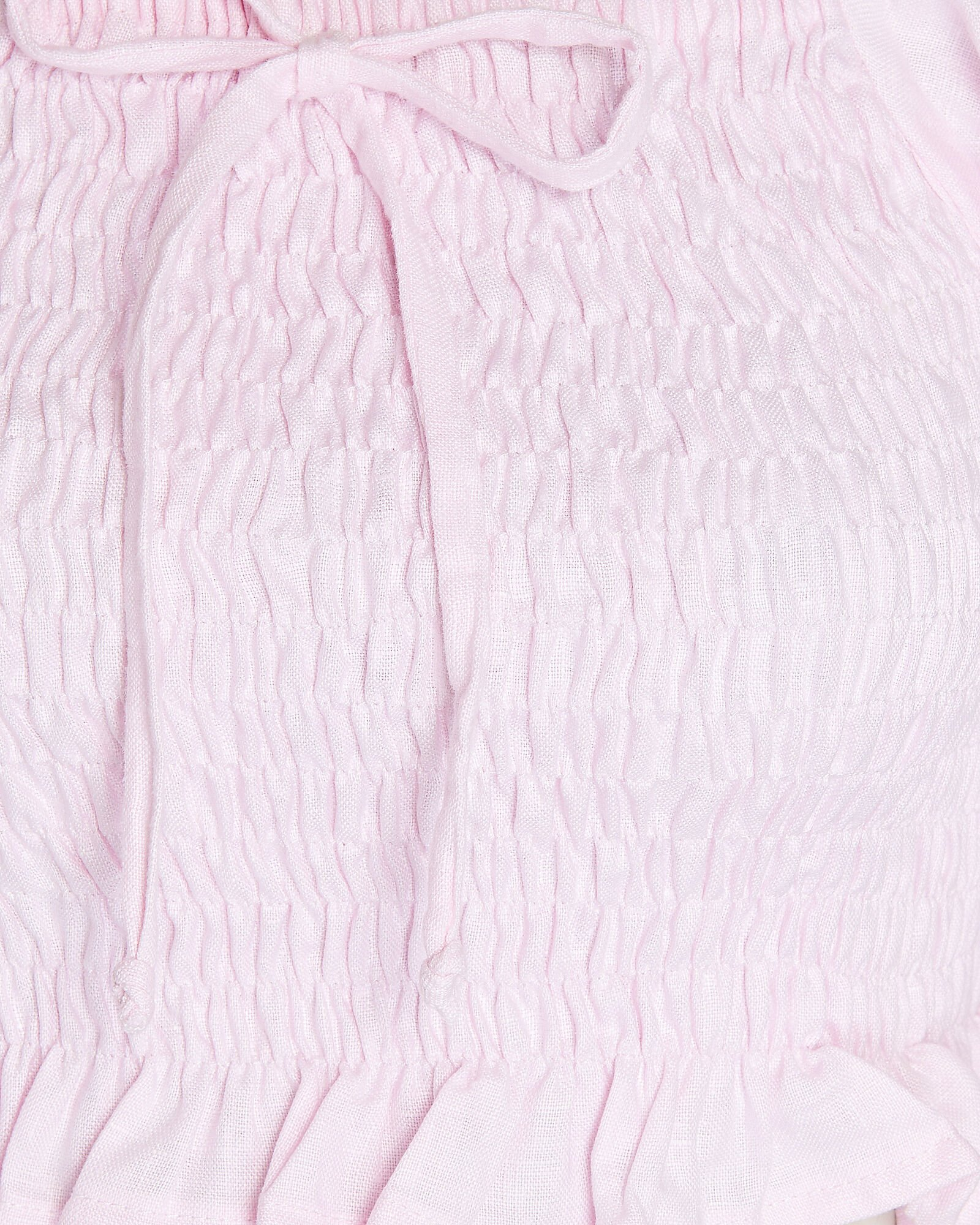 Lenora Smocked Linen Top, PINK, hi-res