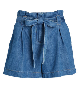 Hillary Paperbag Denim Shorts, , hi-res
