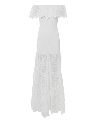 Diamond Lace Positano Maxi Dress, WHITE, hi-res