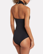 Nova String One-Piece Swimsuit, BLACK, hi-res