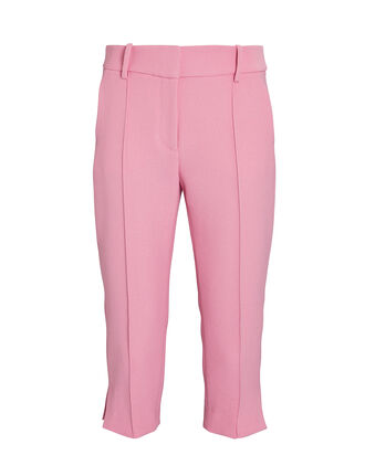 Ward Side Slit Capri Pants, PINK, hi-res