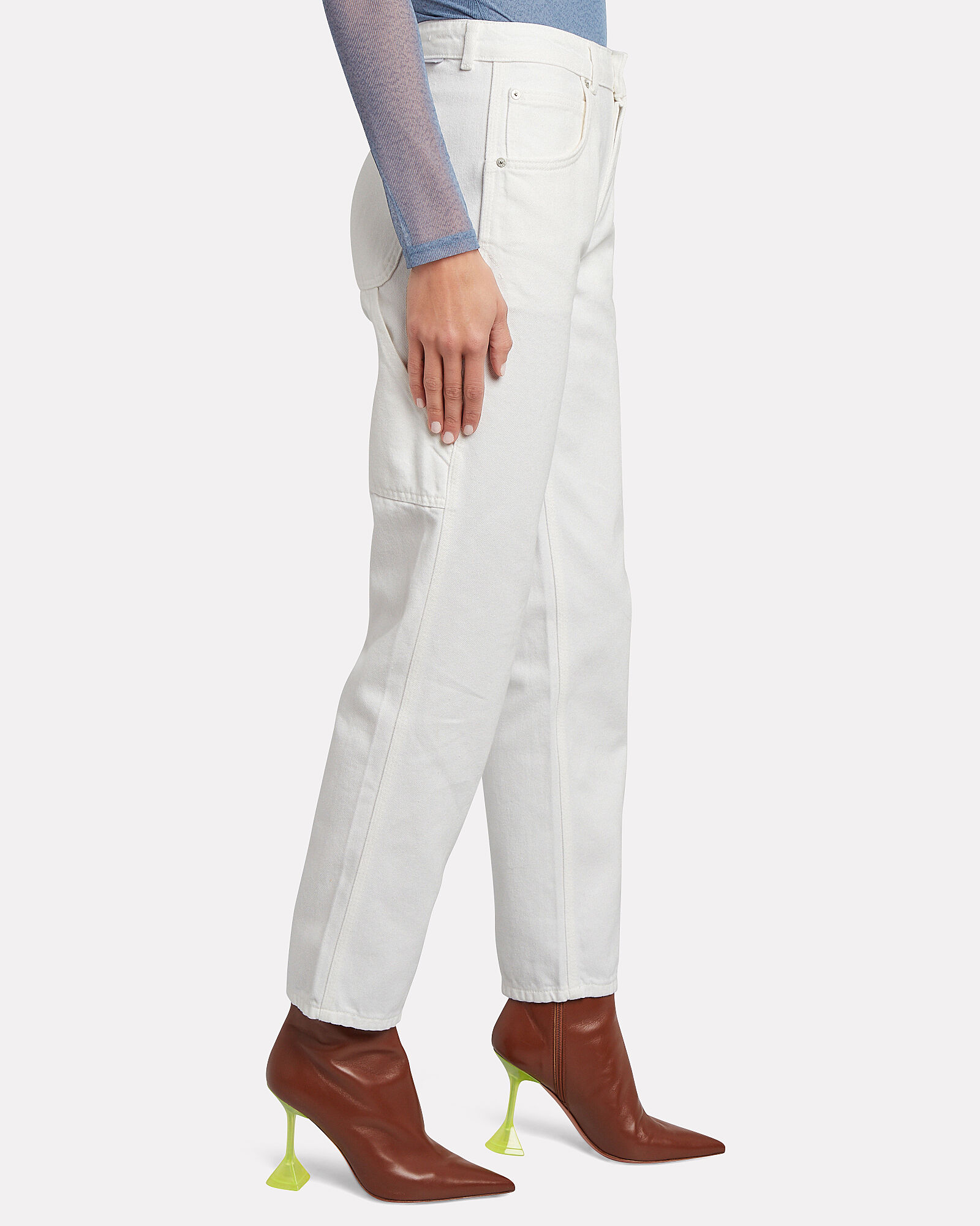 The Bailey High-Rise Jeans, WHITE, hi-res