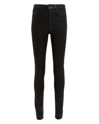 Black Coated Skinny Jeans, BLACK DENIM, hi-res