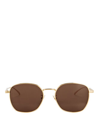 Wire Rectangular Sunglasses, BROWN, hi-res
