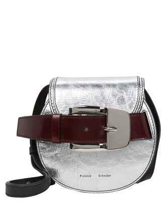 Buckle Mini Crossbody Bag, SILVER, hi-res