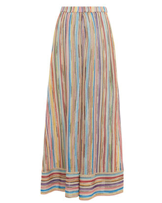 Rainbow Wide Leg Knit Pants, MULTI, hi-res