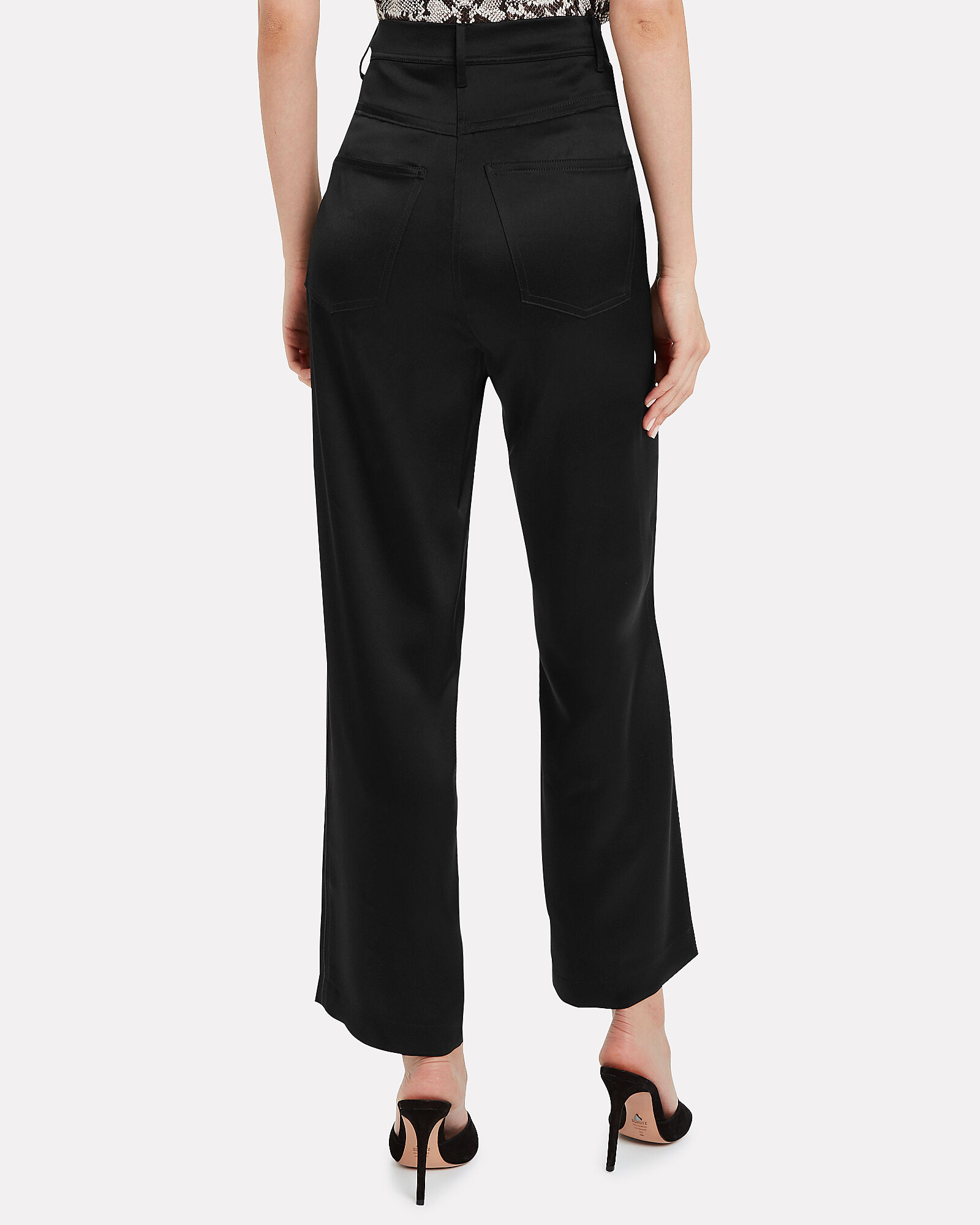 Marfa Satin Wide Leg Pants, BLACK, hi-res