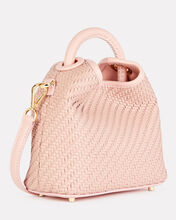 Mini Madeleine Leather Tote, PINK, hi-res