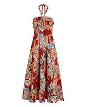 Tina Deco Floral Halter Dress, MULTI, hi-res