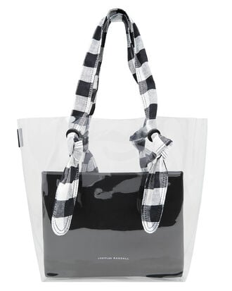 Lydia Tote, BLACK/WHITE/CLEAR, hi-res