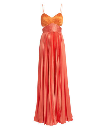 Elodie Gown, CORAL/ORANGE, hi-res
