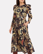 Audelia Floral Habutai Maxi Dress, MULTI, hi-res