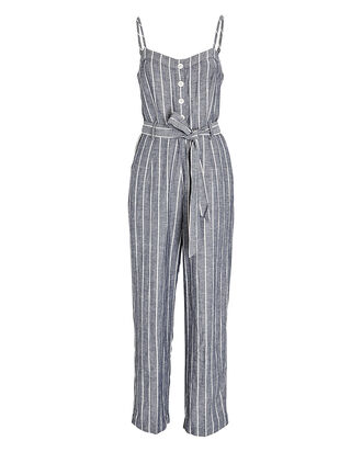 Harper Striped Sleeveless Jumpsuit, GREY/WHITE, hi-res