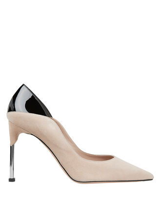 Two-Tone Pumps, BEIGE/BLACK, hi-res