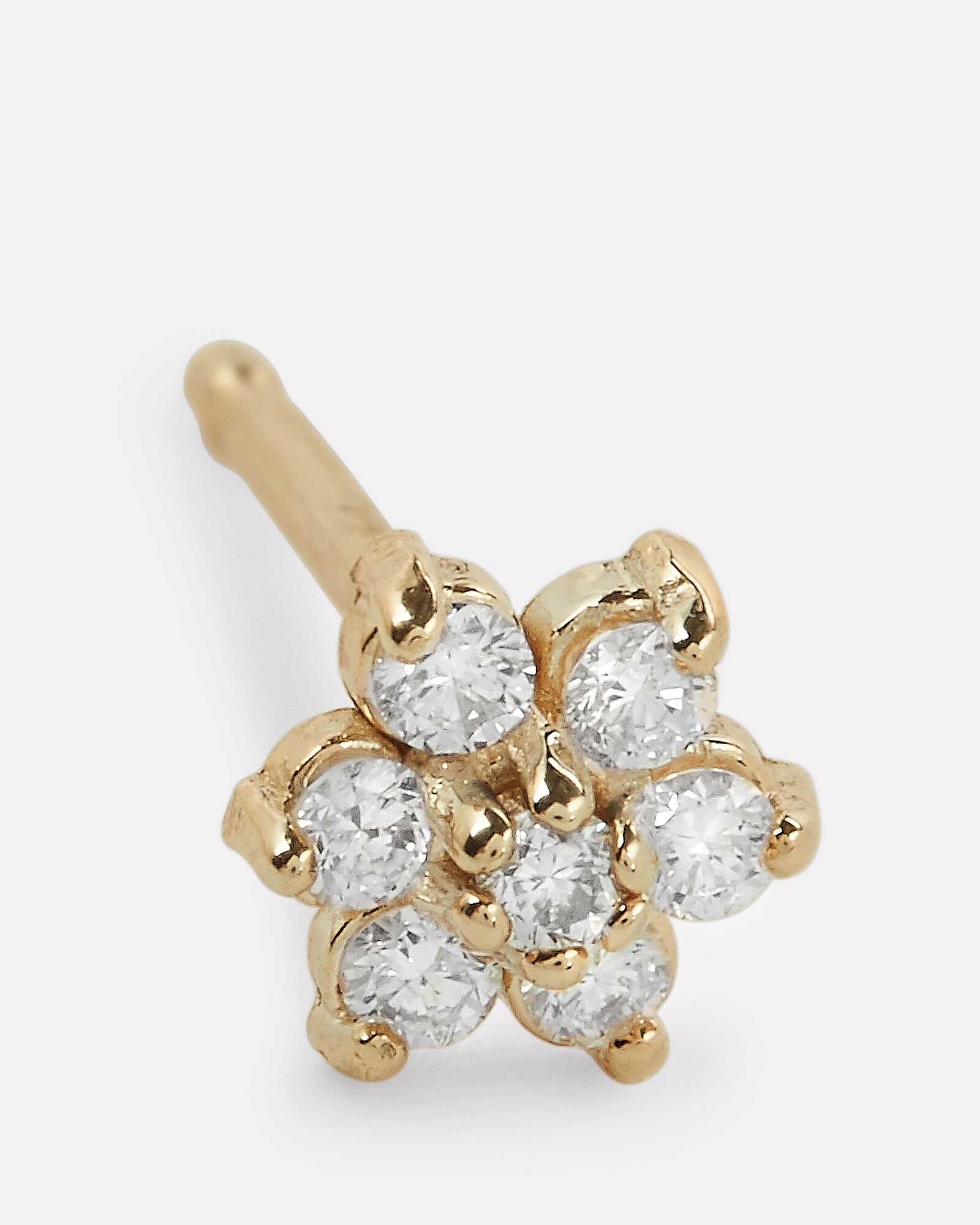 Mini Diamond Flower Stud, GOLD, hi-res