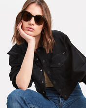 Spotted Havana Oversized Round Sunglasses, BROWN, hi-res