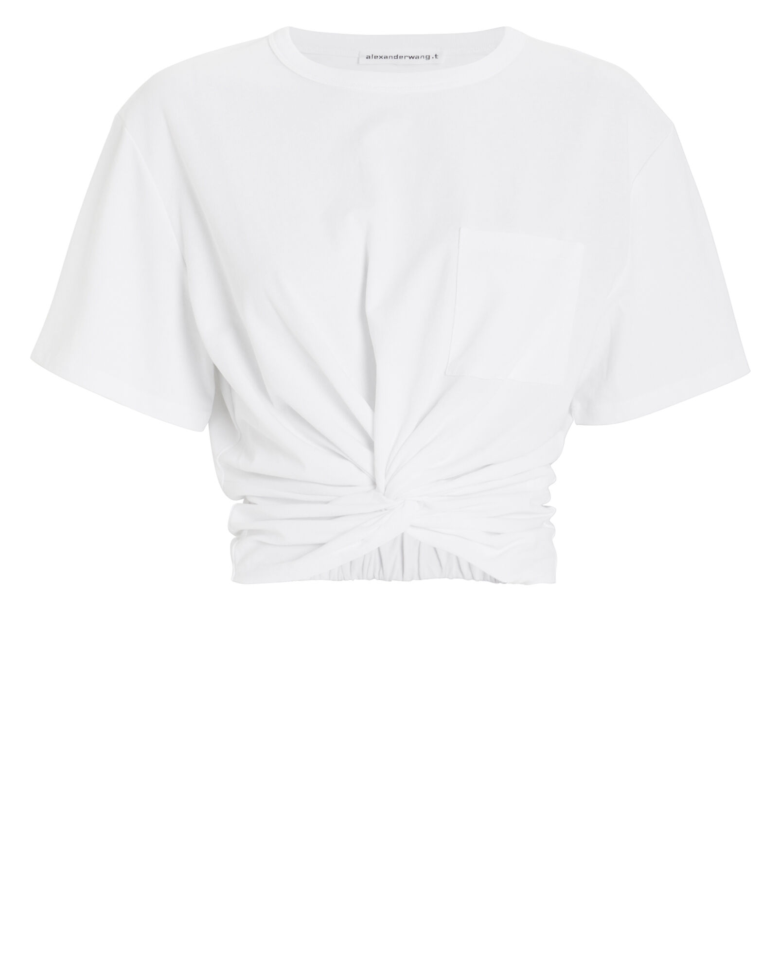 Jersey Twist T-Shirt, WHITE, hi-res