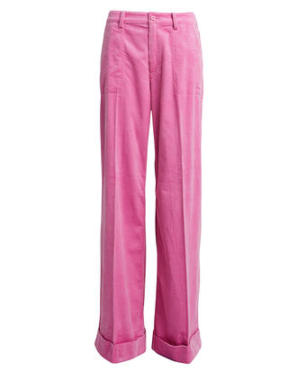 Kelly Corduroy Trousers, BUBBLE GUM PINK, hi-res