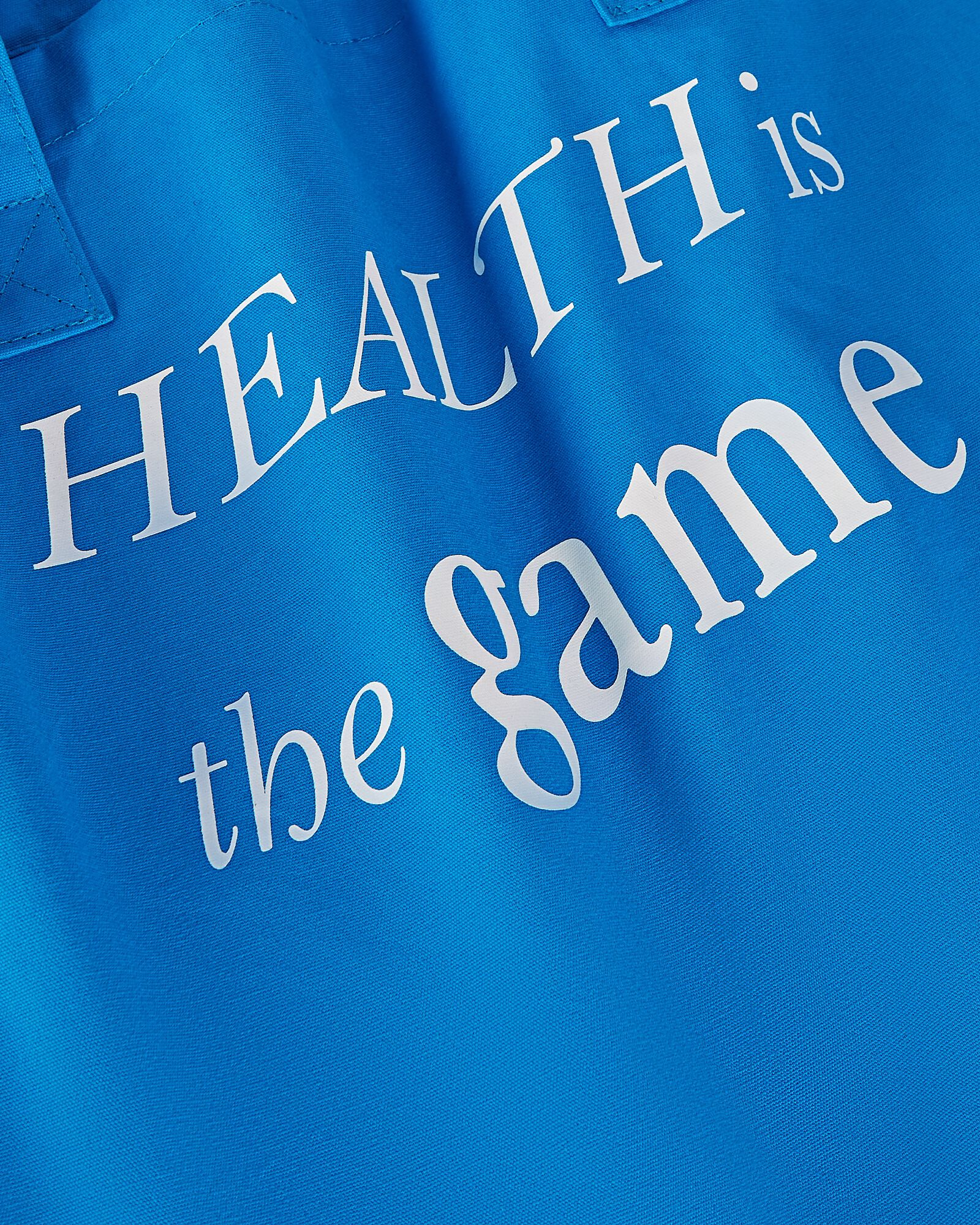Health Is The Game Cotton Tote Bag, BLUE, hi-res
