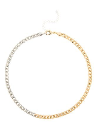 It Takes Two Chain-Link Necklace, SILVER/GOLD, hi-res