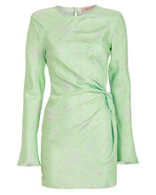 Twice As Nice Twisted Silk Dress, GREEN-LT, hi-res