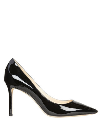 Romy 85 Patent Leather Pumps, BLACK, hi-res