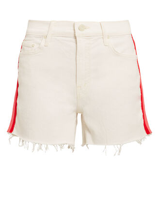 Sinner Frayed Shorts, IVORY/RED/PINK, hi-res
