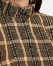 Biba Plaid Button-Down Shirt, BROWN/BEIGE, hi-res