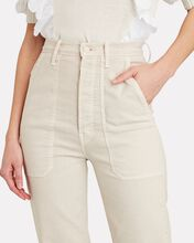 The Wrapper Patch Springy Ankle Jeans, BEIGE, hi-res