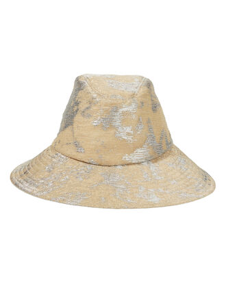 Jordana Metallic Bucket Hat, GOLD, hi-res