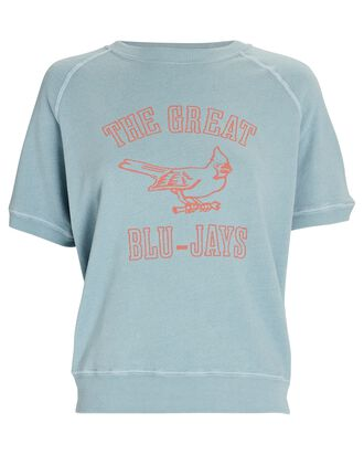 The Short Sleeve College Sweatshirt, LIGHT BLUE, hi-res