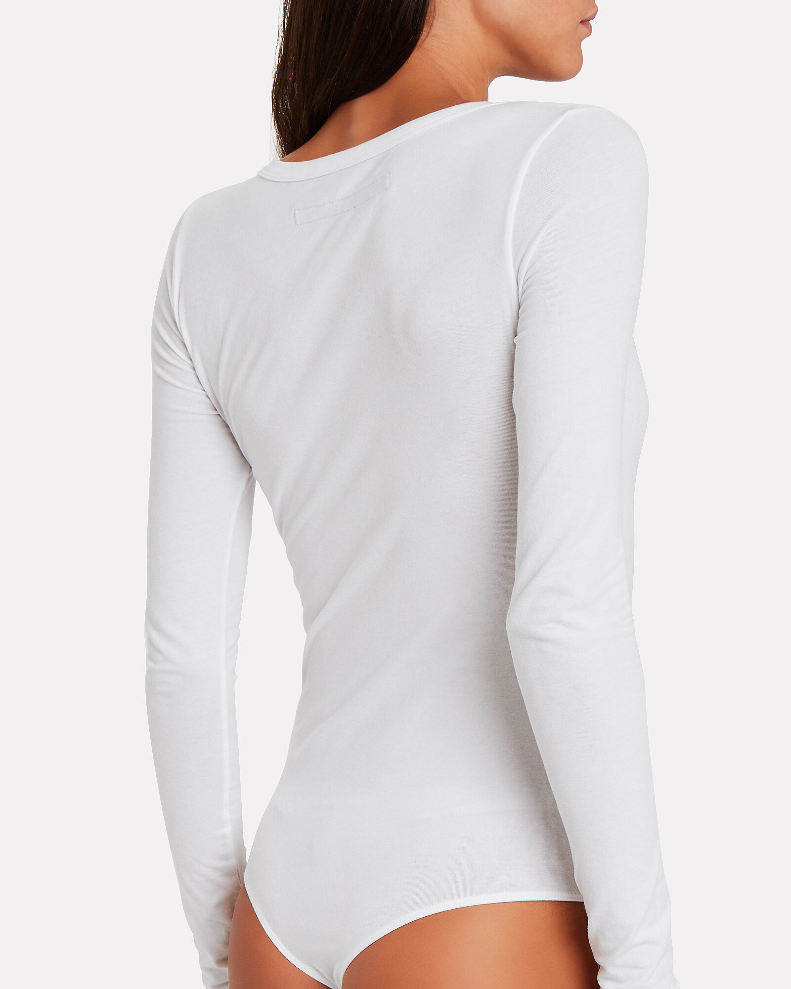 V-Neck Jersey Bodysuit, WHITE, hi-res