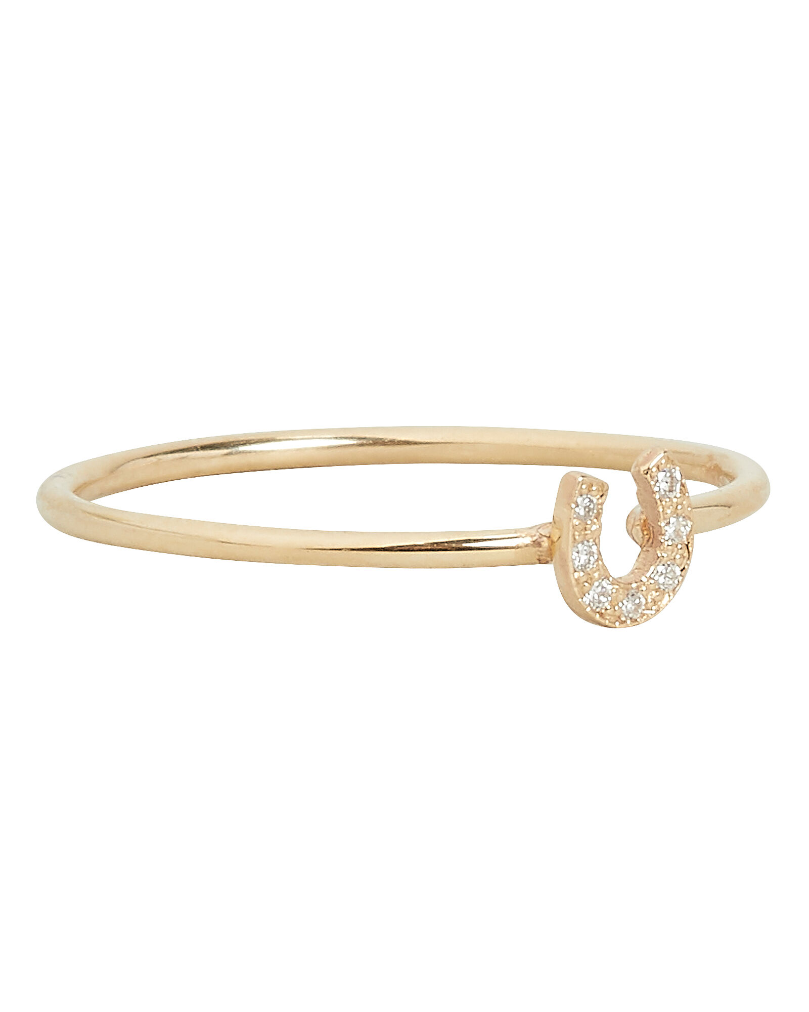 Itty Bitty Horseshoe Ring, GOLD, hi-res