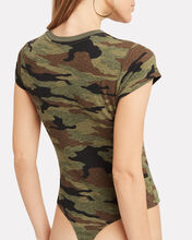 Camo Slim T-Shirt Bodysuit, GREEN, hi-res
