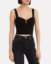 Ariel Denim Bralette Top, BLACK, hi-res