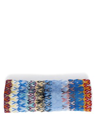Chevron Knit Headband, BLUE/RAINBOW, hi-res