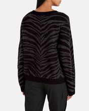 Chance Wool-Cashmere Tiger Sweater, CHARCOAL/TIGER STRIPE, hi-res