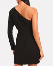 Catherine One-Shoulder Crepe Dress, BLACK, hi-res