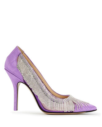Fiona Crystal Fringe Pumps, PURPLE-LT, hi-res