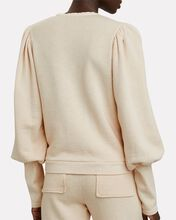 Alba Washed Cotton Fleece Sweatshirt, IVORY, hi-res