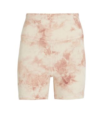 Tie-Dyed Rib Knit Bike Shorts, BEIGE/BLUSH, hi-res