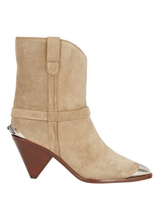 Limza Suede Ankle Boots, BEIGE, hi-res