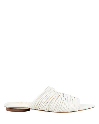 Mia Slide Sandals, WHITE, hi-res
