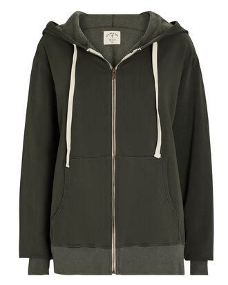 Weekender Zip-Up Hooded Sweatshirt, OLIVE, hi-res