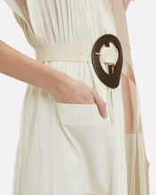 Edith Pleated Midi Dress, BLUSH, hi-res