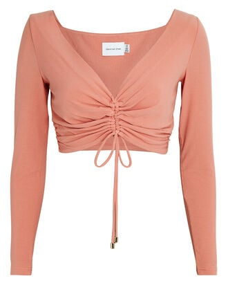 Sirene Ruched Crop Top, ROSE, hi-res