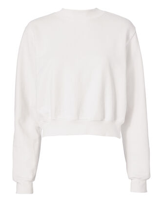 The Milan White Sweatshirt, WHITE, hi-res