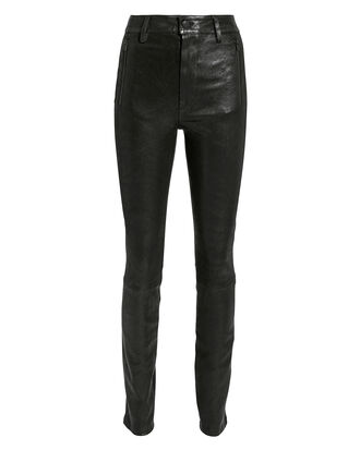 Lora Leather Pants, BLACK, hi-res