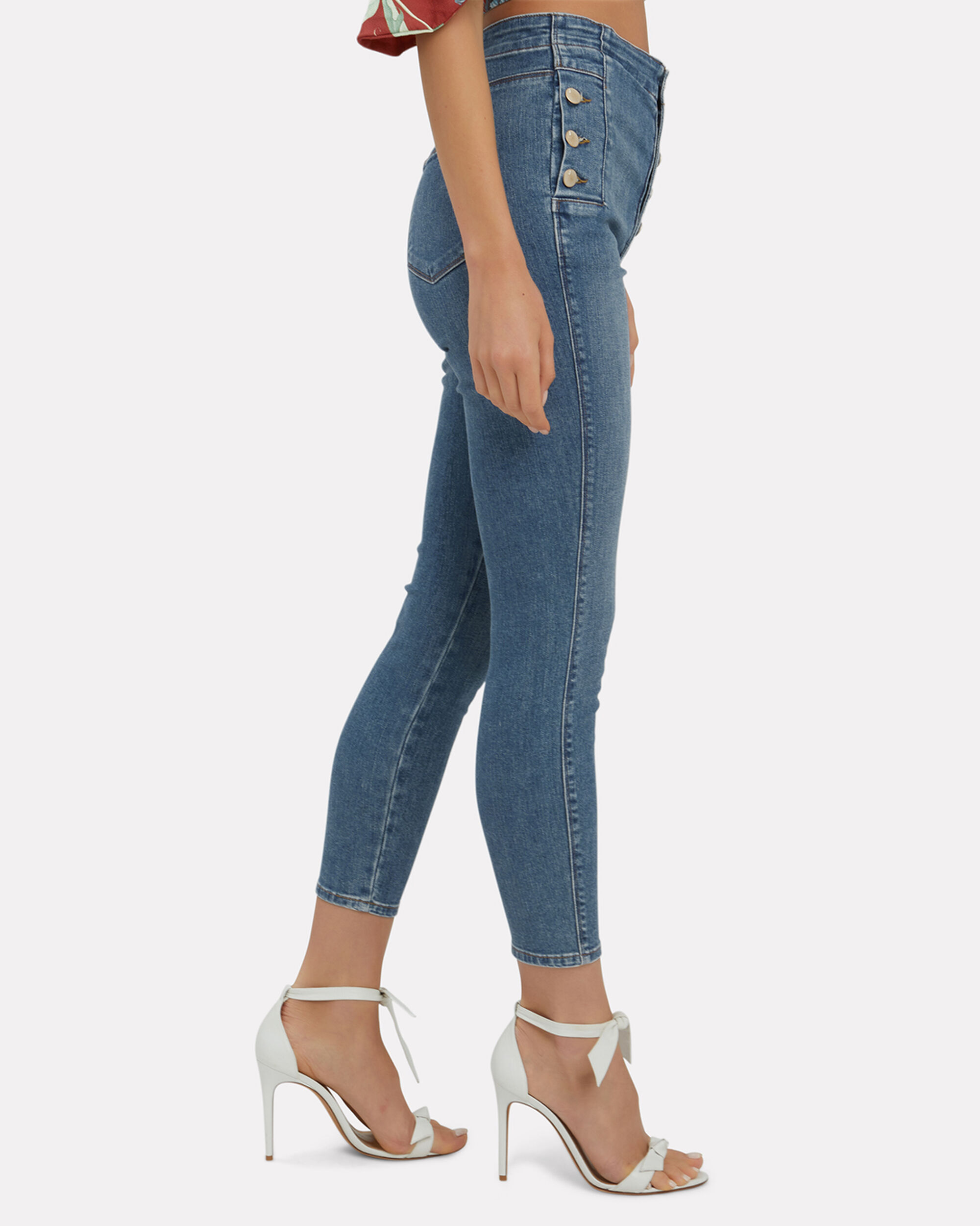 Natasha Light Blue Cropped Skinny Jeans, LIGHT BLUE DENIM, hi-res