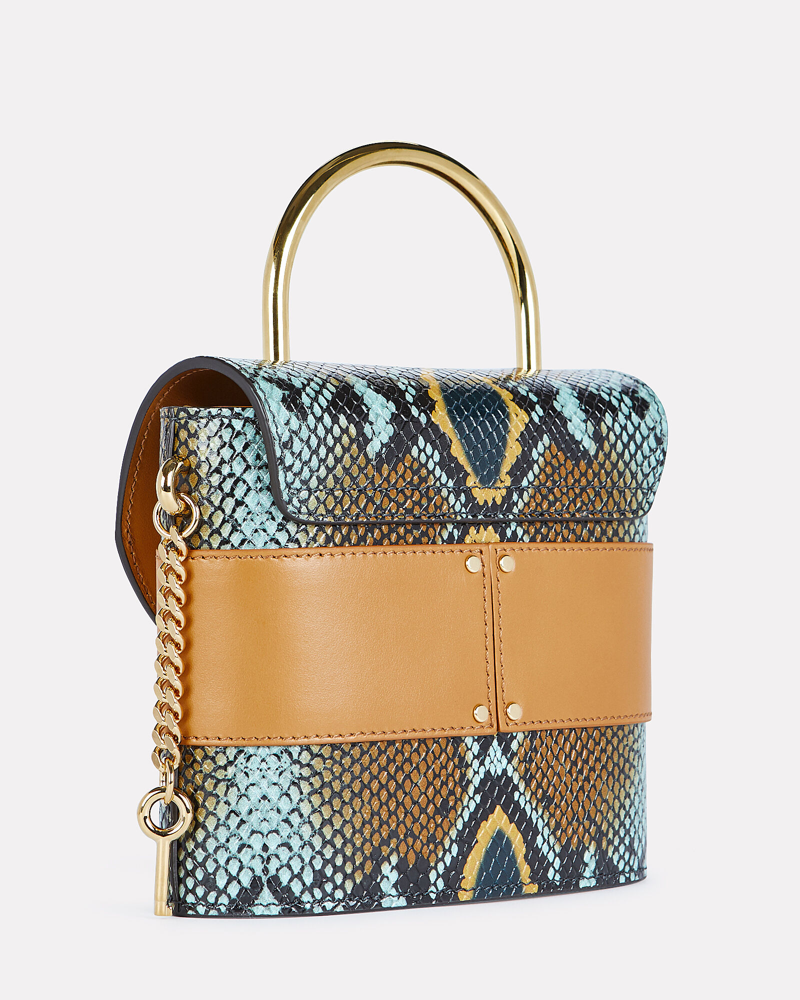 Small Aby Lock Bag, BLUE/BROWN, hi-res
